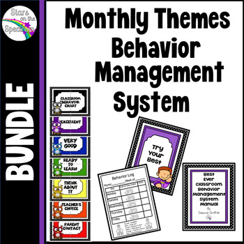 Behavior Management System For The Whole Year (Behavior Clip Chart and Supports)