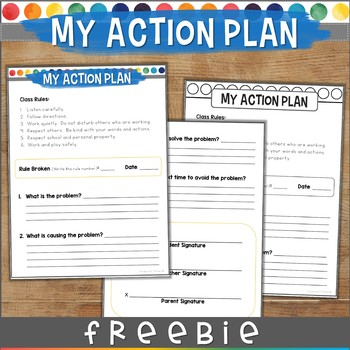 Behavior Management ACTION PLAN Classroom Management Tool