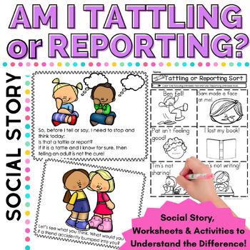 Social Skills Tattling or Reporting