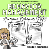 Behavior Management: Awesome Behavior Notes