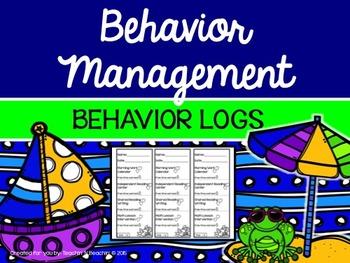 Classroom Management-Behavior Management- Behavior Logs