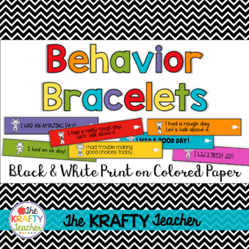 Behavior Management Bracelets works with ANY clipchart or card system