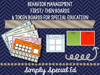 Behavior Management Bundle: First/ Then Boards & Token Boards