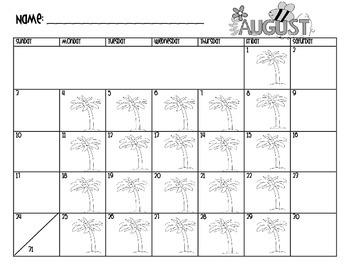 Behavior Management Calendar - Monthly 2014-2015