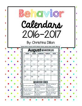 Behavior Management Calendars