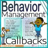 Behavior Management Callbacks