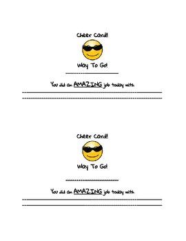Behavior Management Cards