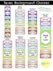 Behavior Clip Charts (Editable) for Classroom Management - 7 Background Choices