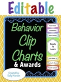 Behavior Clip Charts (Editable) for Classroom Management -