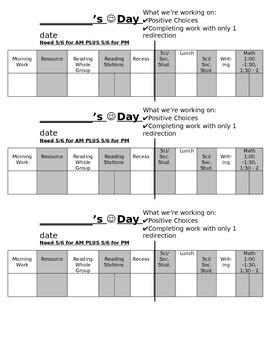 Behavior Management Chart - BIPS