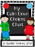 Behavior Management Chart: Calm Down Choices