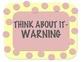 Behavior Management Chart Clip Up/Clip Down PINK Polka Dots!!!