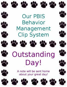 Behavior Management Chart PBIS Template