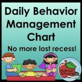 Behavior Management Chart editable