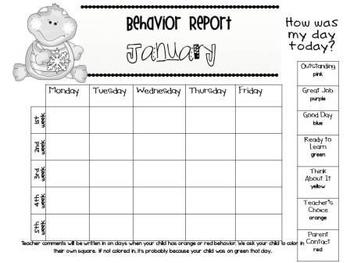 Behavior Management Charts and Parent Reports English/Spanish Bundle