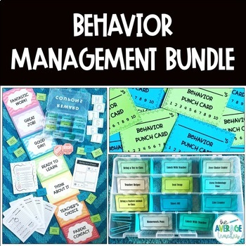 Behavior Management Classroom Bundle - Chevron Theme