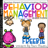 FREE Behavior Management Classroom Parent Communication Forms