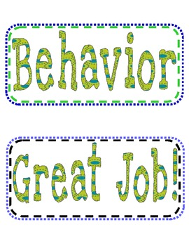 Behavior Management Classroom Rules and Expectations with a Clip Chart