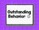 Behavior Management Clip Chart