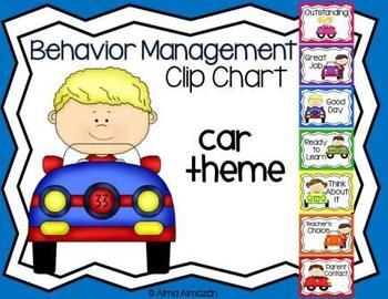 Behavior Management Clip Chart Car Theme