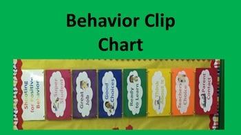 Behavior Management Clip Chart Color System