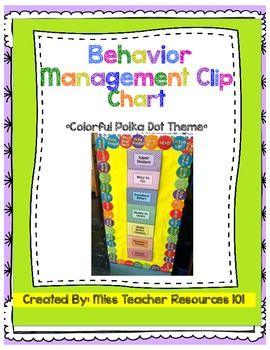 Behavior Management Clip Chart - Colorful Polka Dots - FREEBIE