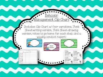 Behavior Management Clip Chart (With EATRAS!)