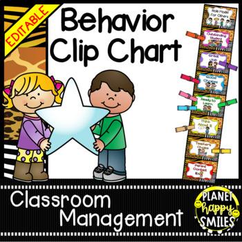 Behavior Management Clip Chart ~ Jungle/Safari Theme