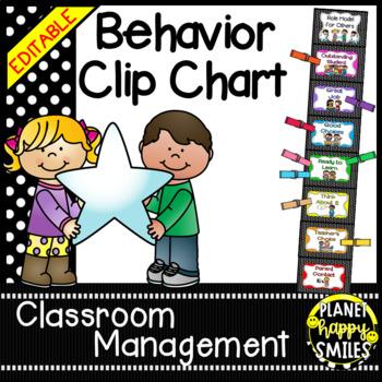 Behavior Management Clip Chart (Polka Dots)