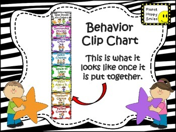 Behavior Management Clip Chart ~ Zebra Print