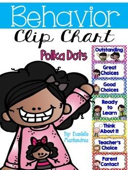 Behavior Management Clip Chart {Polka Dots}
