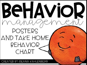 Behavior Management {Clip Chart Posters and Take Home Chart}