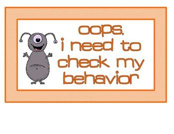 Behavior Management Clip Chart - Space Theme