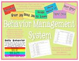 Behavior Management Clip Chart System