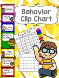 Behavior Management Clip Chart WITH CALENDAR