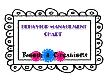 Behavior Management Clip Up Chart