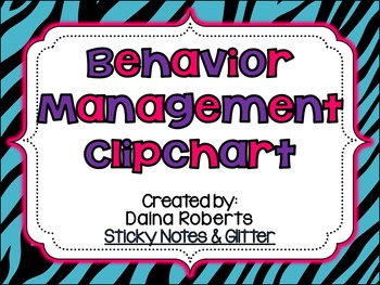Behavior Management Clipchart Pack {BRIGHT Animal Print}