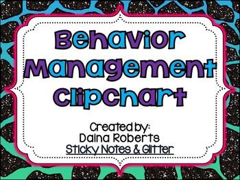 Behavior Management Clipchart Pack {BRIGHT Glittery Jungle}