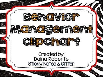 Behavior Management Clipchart Pack {Glittery Jungle}