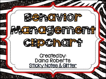 Behavior Management Clipchart Pack {Glittery Jungle}