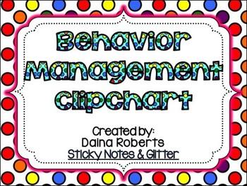 Behavior Management Clipchart Pack {Rainbow Polka Dot}