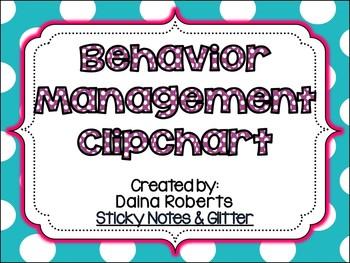 Behavior Management Clipchart Pack {Solid Polka Dot}