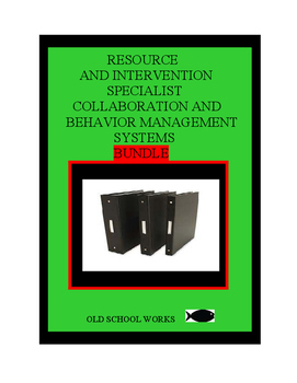 Behavior Management/Colloboration Systems Bundle for the Resource Specialist