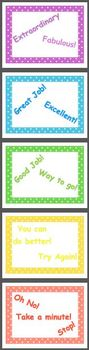Behavior Management Color Chart Polka Dots Move Up & Down