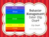 Behavior Management Color Clip Chart