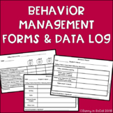 Behavior Management Communication Forms and Data Log EDITABLE