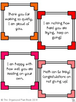Behavior Reinforcement Cue Cards