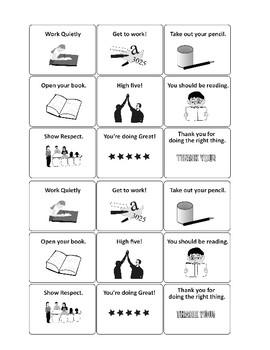 Behavior Management Cue Cards