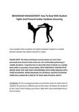 Behavior Management: De-escalating students fighting/argui