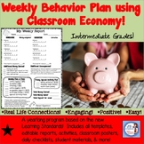 Weekly Behavior Plan for 4th Grade (economics based)
